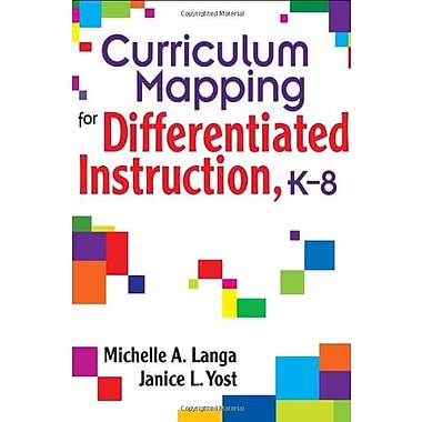 Curriculum Mapping for Differentiated Instruction, K-8, New Book (9781412914956)