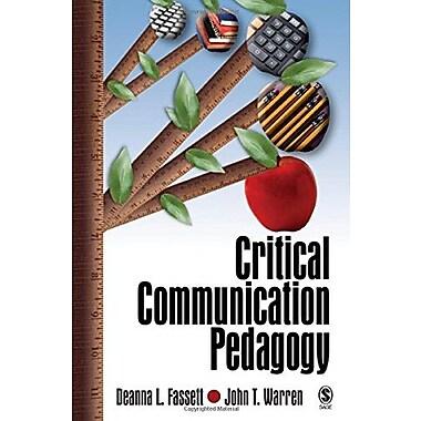 Critical Communication Pedagogy, New Book (9781412916264)