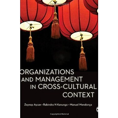 Organizations and Management in Cross-Cultural Context, New Book (9781412928748)