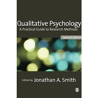Qualitative Psychology: A Practical Guide to Research Methods, New Book (9781412930840)