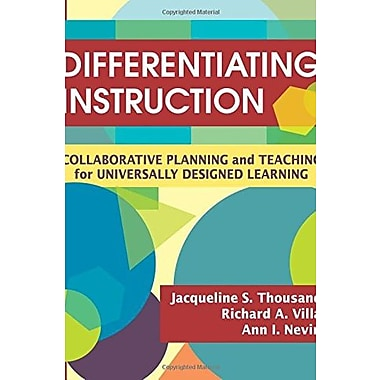 Differentiating Instruction: Collaborative Planning and Teaching for Universally Designed Learning, New Book (9781412938600)
