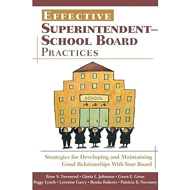 Effective Superintendent-School Board Practices, Used Book