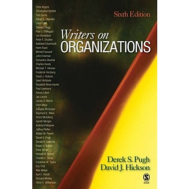 Writers on Organizations, New Book (9781412941020)