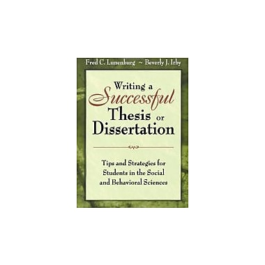 Writing a Successful Thesis or Dissertation, Used Book (9781412942256)