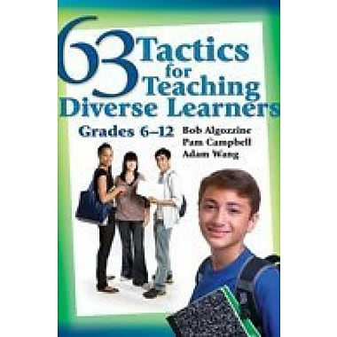 63 Tactics for Teaching Diverse Learners, Grades 6-12, Used Book (9781412942423)