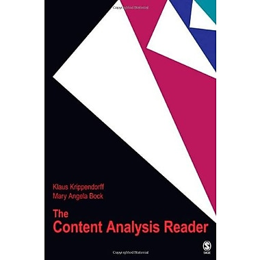 The Content Analysis Reader, New Book (9781412949668)