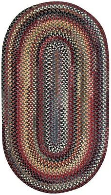 Capel Eaton Blue Outdoor Area Rug; Concentric Square 8'6''