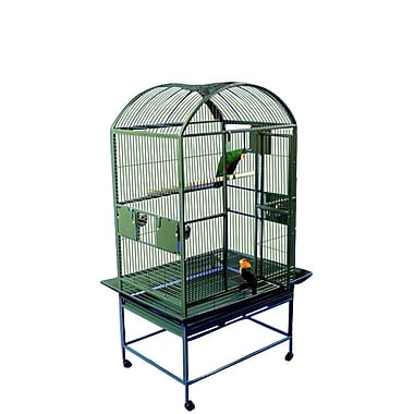 A&E Cage Co. Large Dome Top Bird Cage; Burgundy