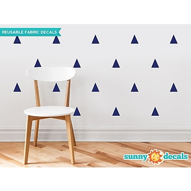 Sunny Decals Triangle Fabric Wall Decal (Set of 32); Navy