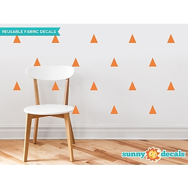 Sunny Decals Triangle Fabric Wall Decal (Set of 32); Orange