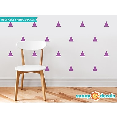 Sunny Decals Triangle Fabric Wall Decal (Set of 32); Purple