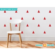 Sunny Decals Triangle Fabric Wall Decal (Set of 32); Red