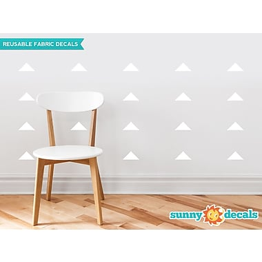 Sunny Decals Wide Triangle Fabric Wall Decal (Set of 32); White