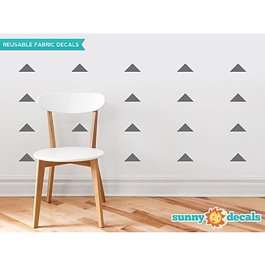 Sunny Decals Wide Triangle Fabric Wall Decal (Set of 32); Charcoal