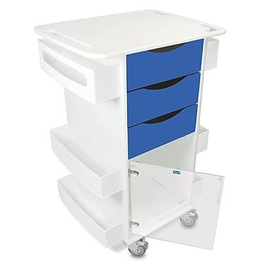 TrippNT Core Dx AV Cart w/ Hinged Door; Global Blue