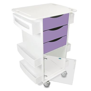 TrippNT Core Dx AV Cart w/ Hinged Door; Gum Drop Purple