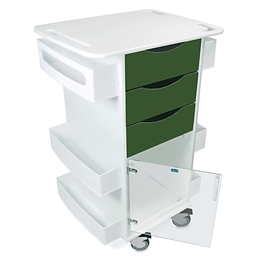 TrippNT Core Dx AV Cart w/ Hinged Door; Hosta Leaf Green