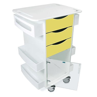 TrippNT Core Dx AV Cart w/ Hinged Door; Bright Idea Yellow
