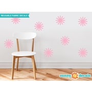 Sunny Decals Starburst Fabric Wall Decal (Set of 8); Pink