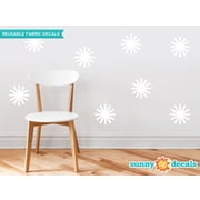 Sunny Decals Starburst Fabric Wall Decal (Set of 8); White