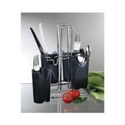 Prodyne Metalla Caddy 4 Piece Removable Compartments Flatware Set (Set of 3)
