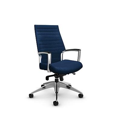 Global – Fauteuil Accord à haut dossier inclinable au niveau des genoux, tissu agencé vague (bleu)