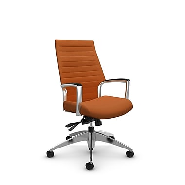 Global – Fauteuil Accord à haut dossier inclinable, imprimé paprika (orange)