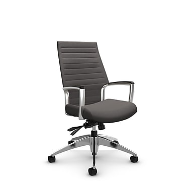 Global – Fauteuil Accord à haut dossier inclinable, imprimé graphite (gris)