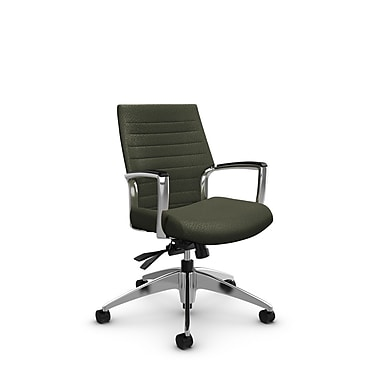 Global – Fauteuil Accord à dossier bas inclinable, tissu agencé mousse (vert)
