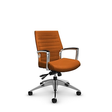 Global – Fauteuil Accord à dossier bas inclinable, tissu agencé orange (orange)
