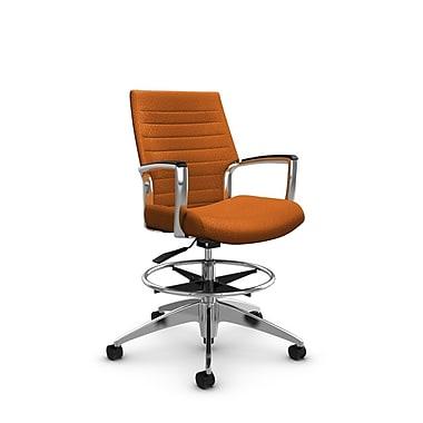 Global Accord – Chaise pour dessinateur à dossier bas, fini orange (Orange)