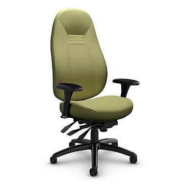 Global – Fauteuil ObusForme Comfort, doss. haut, basc. multi, tissu couleur vert céleri