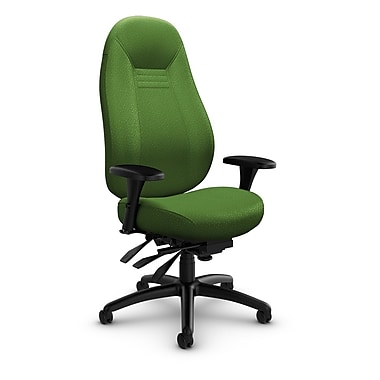Global – Fauteuil ObusForme Comfort 24 heures, dossier haut, à basculements multiples, tissu Match Green (vert)