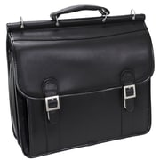 "McKlein® Halsted Limited Edition 15.4"" Flapover Double Compartment Laptop Case, Black or Brown"