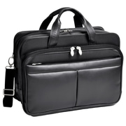 McKlein Walton, Expandable Laptop Briefcase w/ Removable Sleeve, Top Grain Cowhide Leather, Black (83985)