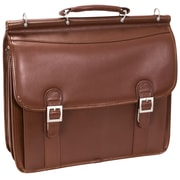 "McKlein® Halsted Limited Edition 15.4"" Flapover Double Compartment Laptop Case, Brown"