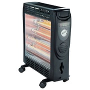 Optimus 1500 W Quartz and Convection Radiant Heater, Black (h-5300bk)