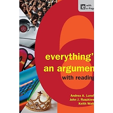 Everything's an Argument with Readings Used Book (9781457606045)