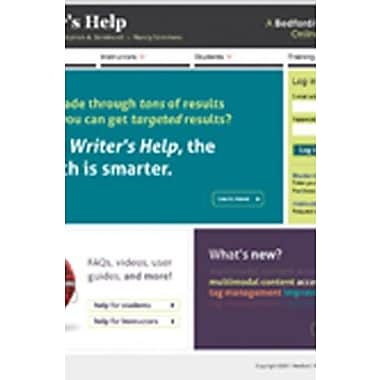 WRITER'S HELP 2 YEAR ACCESS WITH STUDENT GUIDE 2012 UPDATE, Used Book (9781457642838)