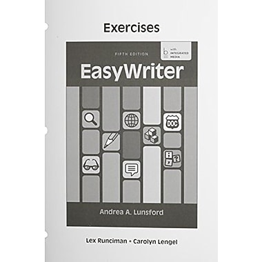 Exercises for EasyWriter, Used Book (9781457662706)