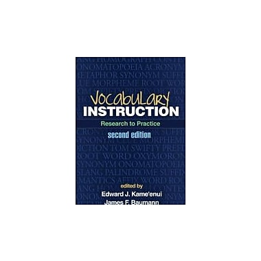 Vocabulary Instruction, Second Edition: Research to Practice, Used Book (9781462503971)