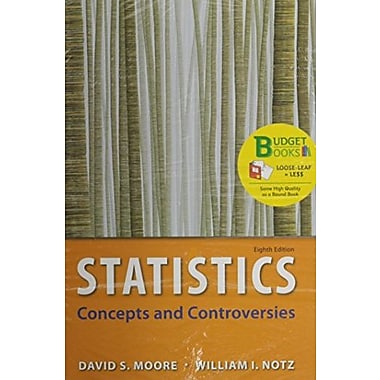 Statistics, Concepts & Controversies (Loose Leaf) EESEE Access Card & Portal Access Card, Used Book (9781464140662)