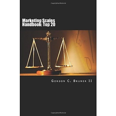 Marketing Scales Handbook: The Top 20 Multi-Item Measures Used in Consumer Research, Used Book (9781482779912)