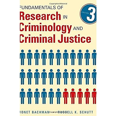 Fundamentals of Research in Criminology and Criminal Justice Used Book (9781483333458)