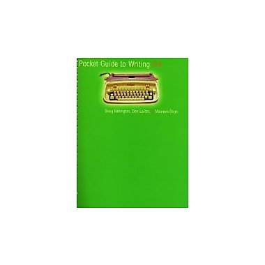 The Broadview Pocket Guide to Writing, third edition, Used Book (9781551119700)