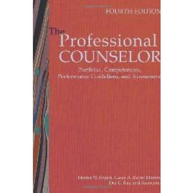 The Professional Counselor: Portfolio, Competencies Performance Guidelines and Assessment, Used Book (9781556202964)