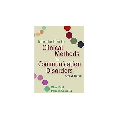 Introduction to Clinical Methods in Communication Disorders, New Book (9781557668790)