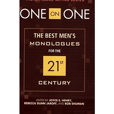 One on One: The Best Men's Monologues for the 21st Century, New Book (9781557837011)
