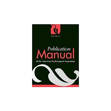 Publication Manual of the American Psychological Association Used Book (9781557987914)