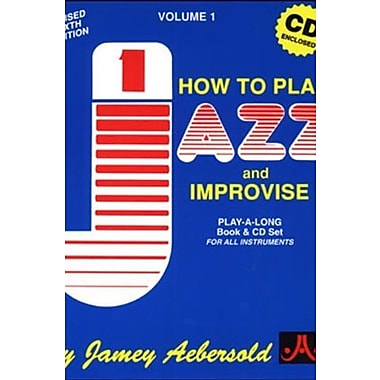 How to Play Jazz & Improvise, Vol. 1 (Book & CD), New Book (9781562241223)